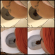 A girl with a tattoo on her back records herself shitting while sitting on a toilet in 13 scenes. See movies 7048 and 7049 for more. Presented in 720P HD. Over 5 minutes.
