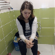 A blonde, Eastern-European girl sits down on a toilet and immediately shits with a few heavy plops and a piss. She wipes her front and back side repeatedly. No product shown. Presented in 720P HD. Over 2.5 minutes.