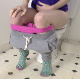 A girl records herself from the hips down as she sits on a toilet taking a noisy shit in a couple of scenes. No product or action is shown. Presented in 720P HD. Over 6 minutes.
