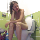 An Eastern-European girl sits on a toilet, pisses, and takes a shit with multiple, clear-sounding plops. She wipes when finished. Presented in 720P HD. Over 4 minutes.