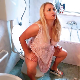A plump, attractive, blonde Eastern-European girl takes soft, wet shits while sitting on a toilet in 5 scenes. Unfortunately, some idiot keeps making fake fart sounds with his mouth in the background. 720P HD. 177MB, MP4 file. Over 13 minutes.