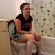 "Just a typical American girl who might be your next door neighbor taking a ""number 2"" on the toilet. She wipes herself and shows us her little girl poops."