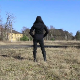 A hooded woman takes a shit outdoors in a field at an abandoned military base. Presented in 720P HD. Over 2 minutes.