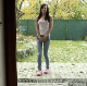 In what was only supposed to be pee video, a cute girl accidentally shits as well while squatting on her back porch. Presented in 720P HD. Over a minute.