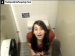A friend gets a sneak peek of Adriana pooping in a bathroom stall!