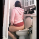 A girl records herself shitting while sitting on a toilet in her own bathroom. There are five scenes. In two scenes, she sits in such a way that we can see the poop coming out. Poop sounds are also audible. Exactly 8 minutes.
