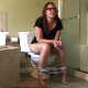 A girl wearing glasses takes a runny-sounding, gassy shit while sitting on a toilet. Warning - this studio is notorious for dubbing in audio effects, so parts of this clip may not be genuine, live audio. 720P HD. 119MB, MP4 file. Over 15 minutes.