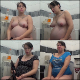 A pregnant, but attractive Russian girl records herself taking a shit while sitting on a toilet at home in 13 scenes. Farts, plops and pissing is clearly heard. Presented 720P HD. 1.01GB, MP4 file. Over an hour.