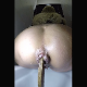 A blonde woman takes a massive shit and a piss while sitting on a toilet. Poop action is clearly viewed from a rear perspective. Presented in vertical HD format. About 3.5 minutes.