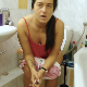 An attractive Italian girl with tattoos takes a shit while sitting on a toilet. Nice pooping sounds and plops are heard. After trying to push out more, she sits on the edge of a bathtub and washes her ass with a shower head. 720P HD. About 6 minutes.