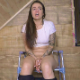 An Italian girl tells us that her toilet is broken, then shits and pisses while sitting on a potty chair. No poop action is seen, but solid thumps are heard as her turds fall into a bucket below. Nice farts. 720P HD. 140MB, MP4 file. Over 9 minutes.