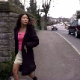 This is a very clear video with good audio of an Asian girl in a European setting - taking a big power piss and a small poop on some outdoor steps.