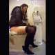 A hidden camera records 5 different women pissing while sitting or bending over a western-style toilet. The prettiest of the girls also takes a shit, and her plops are clearly heard. Presented in 720P vertical HD format. 117MB, MP4 file. About 7 minutes.