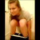 This is a great little clip of girl pushing, grunting, and straining to to take a shit while sitting on a toilet. Her friend records the event. Her efforts are not in vain because we are treated to a nice plop and the end of the video!