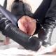A blonde woman wearing tight black pants has a special opening on the back and bottom. She takes a piss, then a hard, firm, chunky shit on the floor. Product shown in detail. 160MB, MP4 file. Presented in 720P HD. Over 14 minutes.