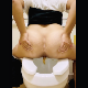 A woman takes a very soft shit and a piss while sitting backwards on a toilet. Poop action is seen from the rear. She wipes her ass when finished. 720P HD vertical format video. About 2 minutes.