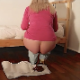 A blonde woman takes a huge, soft shit on the floor in front of her bed. She stands up and continues to shit before finally wiping her ass and showing us the entire impressive patty. About 7.5 minutes.