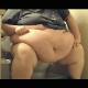 A morbidly obese American woman sits on a toilet, takes a shit and wipes her ass. She talks to herself while pushing and grunting. Pooping sounds are subtle. She shows us her dirty toilet paper and product in the toilet bowl. Over 4 minutes.