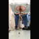 A mature woman with a big, fat butt takes an amazingly long shit while sitting on a potty chair. Poop action is clearly visible, and impressive product is shown on the floor when done. Some pissing. Presented in 720P vertical HD format. Over 4.5 minutes.