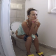 A pretty Bulgarian girl records herself with a wide-angle lens camera as she takes a shit while sitting on a toilet. Nice, heavy, loud plops and some pissing can be heard. Presented in about 720P HD. About 5 minutes.