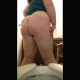 A plump woman takes a large shit while sitting on a toilet. A camera records the poop action from behind her ass. She wipes, shows us her dirty TP and the product in the toilet bowl. Presented in 720P vertical HD format. Exactly 4.5 minutes.