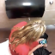 A daring cameraman records a blonde girl taking a noisy, wet, gurgling shit while sitting on a toilet and playing with her mobile phone in a truck stop public restroom. Some poop is visible, but a lot of camera movement. About 4.5 minutes.