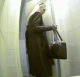 A blonde Russian woman takes a huge shit into a toilet and the whole event is recorded by an articulated hidden camera.