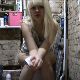 A European blonde girl takes a shit while sitting on a toilet. Poop action can be observed from her side view. She wipes her ass, shows us her dirty TP and then the mess in the toilet bowl. Presented in 720P HD. 143MB, MP4 file. About 6 minutes.