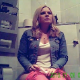 A hidden camera records an unsuspecting pretty blonde girl and her friend pissing and sometimes shitting while sitting on a toilet. Over 20 scenes. About 30 minutes.