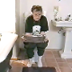Brittanie takes her morning poop while reading the newspaper. About 2.5 minutes.