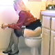 Taken from the early days of GirlsPooping.Com before the famous Bowlcam. A microphone is rigged in the toilet bowl to capture the sound of every snap, crackle, & plop! Brittanie dresses up in nice nylons & heels, too! About 3 minutes.