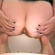Brittanie squats over the toilet bowl and drops a nice load! Over 2 minutes.