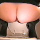 Brittanie squats over the toilet bowl and drops a nice load! About 6 minutes.