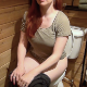 Lucy Loo records herself taking a shit sitting on a toilet while staying at a rustic cabin. Presented in 720P HD. 103MB, MP4 file. About 8 minutes.