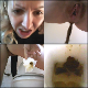 A blonde, Eastern-European girl records herself taking soft shits into a toilet in 3 scenes with some pissing. She wipes her ass, shows us the dirty TP, and finally, the product in the toilet bowl. Presented in 720P HD. 206MB, MP4 file. About 12 minutes.
