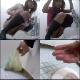 Multiple attractive women pee & sometimes shit into a public floor toilet as they are observed by a pervert. The man scares them away, and he examines the messes they leave behind, including abandoned panties! 263MB, MP4 file requires high-speed Internet.