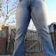 Carmen takes a piss while wearing her jeans. She pulls off the soaked pants and then plays with herself. Over 3 minutes.
