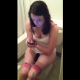 An attractive brunette girl is recorded while peeing and pooping and playing with her cell phone. No poop sounds can be heard because of background noise, but we get to see her wiping herself after voicing her displeasure to the videographer.