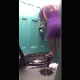 Some guy places a hidden camera in a portable public toilet at a music festival and records 2 women taking a piss. Vertical HD format video. Over 4 minutes.