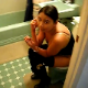 A very brief, but crystal clear clip of an attractive Hispanic girl shitting while sitting on a toilet and using her cell phone. No audible pooping sounds.