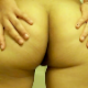 A woman rubs her butt, spreads her cheeks, and then takes a shit. Very quick download, but decent quality.