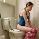A pretty redhead girl records herself farting and taking a shit while sitting on a toilet in 4 scenes. Nice, erect posture with great pooping and farting sounds! Presented in 720P HD. Over 3 minutes.