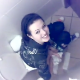 A cute Czech girl is video-recorded trying to shit while sitting on a toilet in a public restroom. No audible pooping sounds.