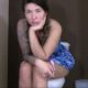 A very pretty American girl farts while sitting on a toilet in one scene, and then farts repeatedly in different locations and positions in several other scenes. No pooping. Presented in 720P HD. About 12 minutes.