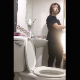 A girl has diarrhea while sitting on a toilet. There is a quick glimpse of a runny shit stream coming out of her ass. She wipes and shows us the dirty TP when finished. Vertical format video. About 2.5 minutes.