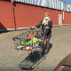 In this public exposure clip, a blonde, German girl takes a shit and piss in a parking lot behind a car after an afternoon of grocery shopping. Presented in 720P HD. Over 1.5 minutes.