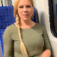 In this public exposure video, a plump, pretty, German girl takes a shit and a piss while on a public train. Presented in 720P HD. About 4.5 minutes.
