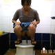This voyeur video features a woman taking a runny shit and pissing into a public toilet in Thailand. Apparently, the toilet has no running water, and she has to pour water down the drain with a plastic container. 1 minute.