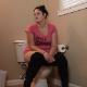 A pudgy girl sits down on a toilet and wet farts are heard. She plunges the toilet when finished. Warning - this studio is notorious for dubbing in audio effects, so parts of this clip may not be genuine, live audio. 720P HD. About 6 minutes.