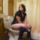 A pudgy brunette girl sits down on a toilet after eating Mexican food. She starts off with some wet farts, pees, and continues to wet fart and shit. Presented in 720P HD. Over 8.5 minutes.